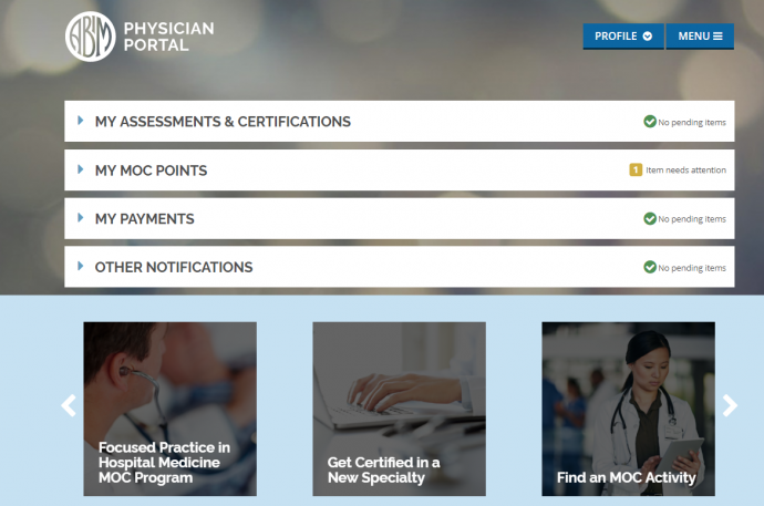 Enhanced ABIM.org with new Physician Portal Coming in Early 2018