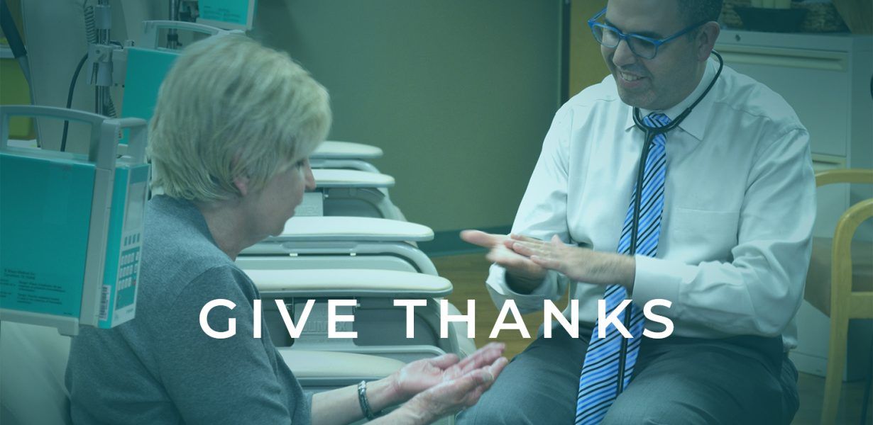 A Thanksgiving Message from Dr. Richard Baron
